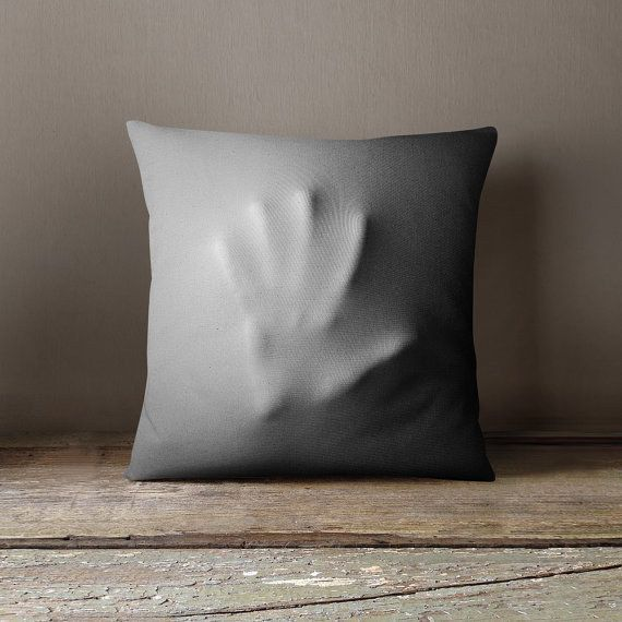 Great hand silhouette pillow. Must do.