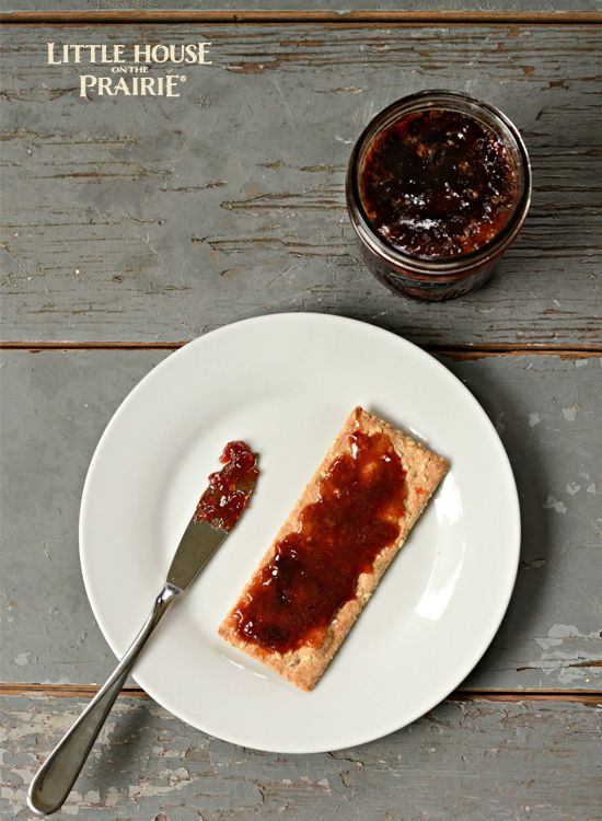Old-fashioned Plum Preserves Recipe inspired by Little House on the Prairie. That looks SO delicious!