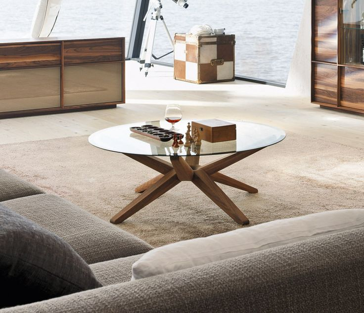 Stern award-winning glass and solid wood coffee tables