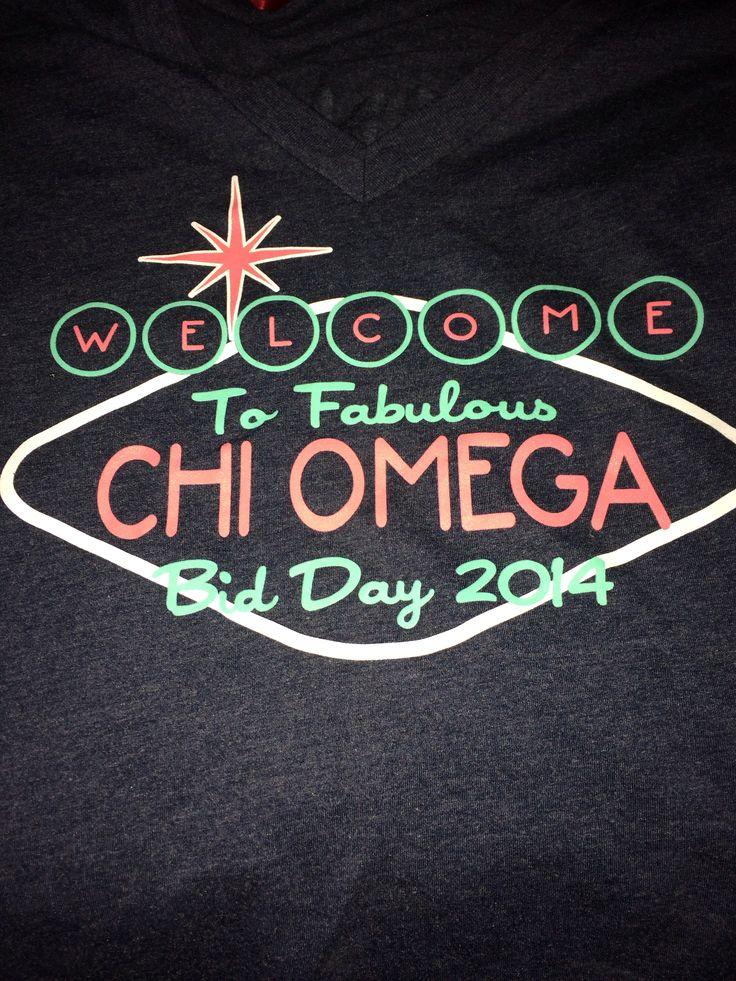 Chi Omega Bid Day Shirt Idea #ChiOmega #BidDay                                                                                                                                                                                 More