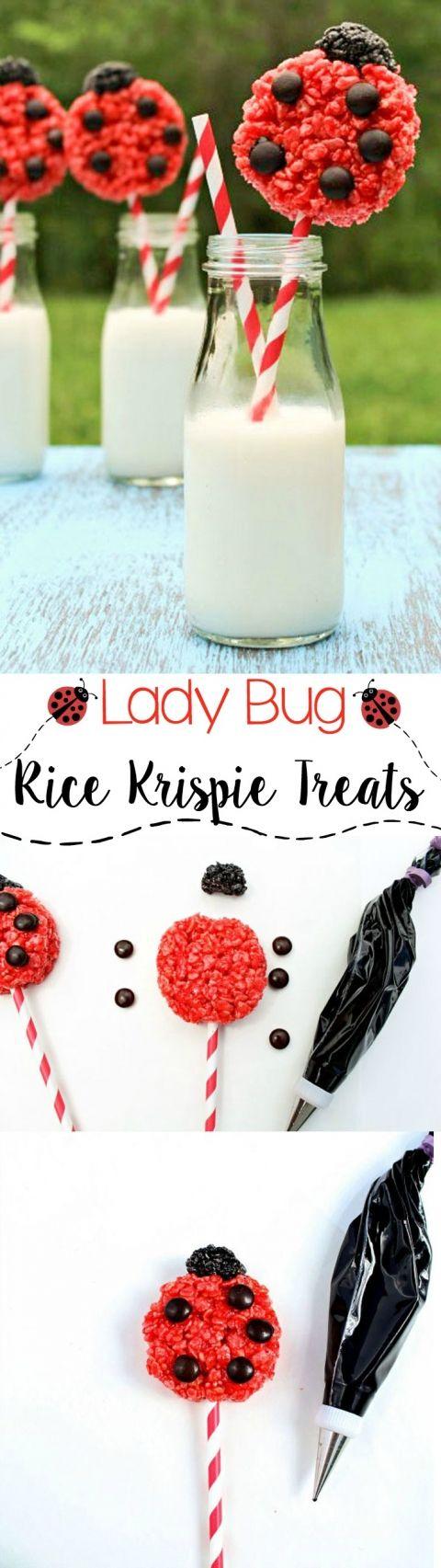 Easy-Rice-Krispie-Lady-Bug-Treats-via-www.thebearfootbaker