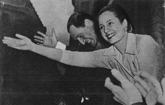 Evita y Juan Domingo Peron
