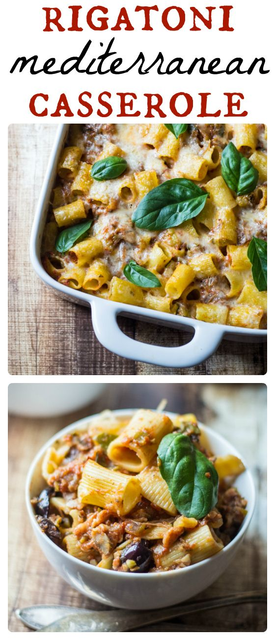 ... this easy-to-make (and vegetarian!) Rigatoni Mediterranean Casserole
