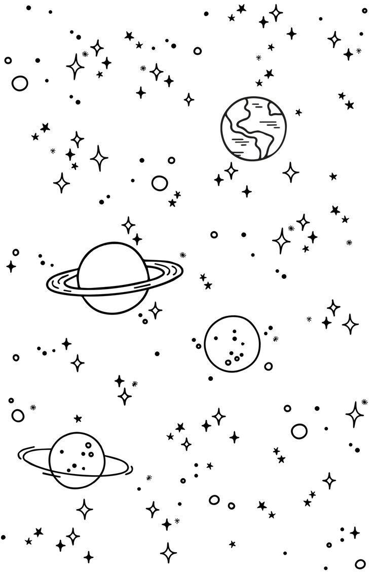 Casetify Iphone Art Design Illustrations Sky Drawings Drawings Wallpaper Space Drawings Wallpaper Doodle Mini Drawings