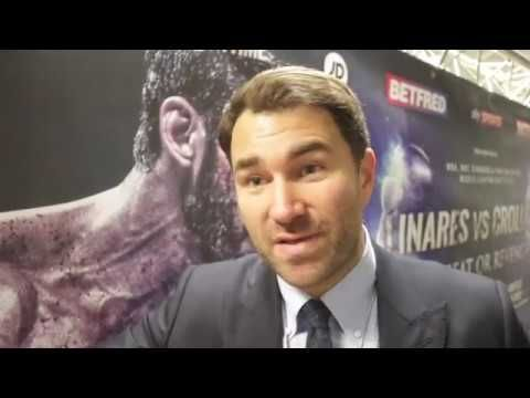EDDIE HEARN REACTS ANTHONY CROLLA DEFEAT TO LINARES, OKOLIE KO, & TONY B...