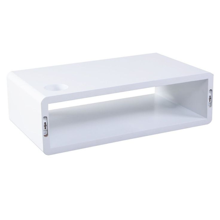 SkyBox Floating Cube Shelf - White. Visit us now and ENJOY 10% OFF + FREE SHIPPING on all orders