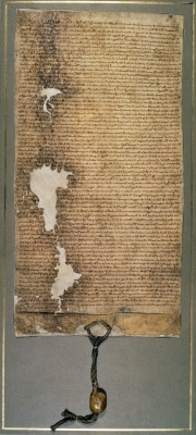 During the year of 1215 the Magna Carta was made. The Magna Carta was written so that the kings didn't have too much power.