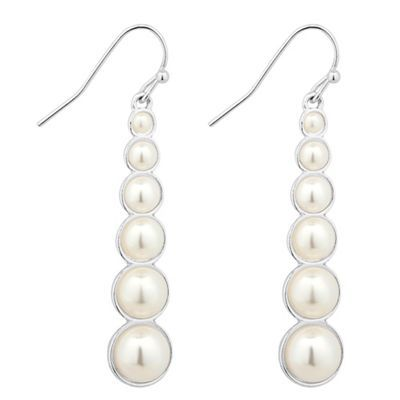 The Collection Graduated pearl silver stick earring- | Debenhams