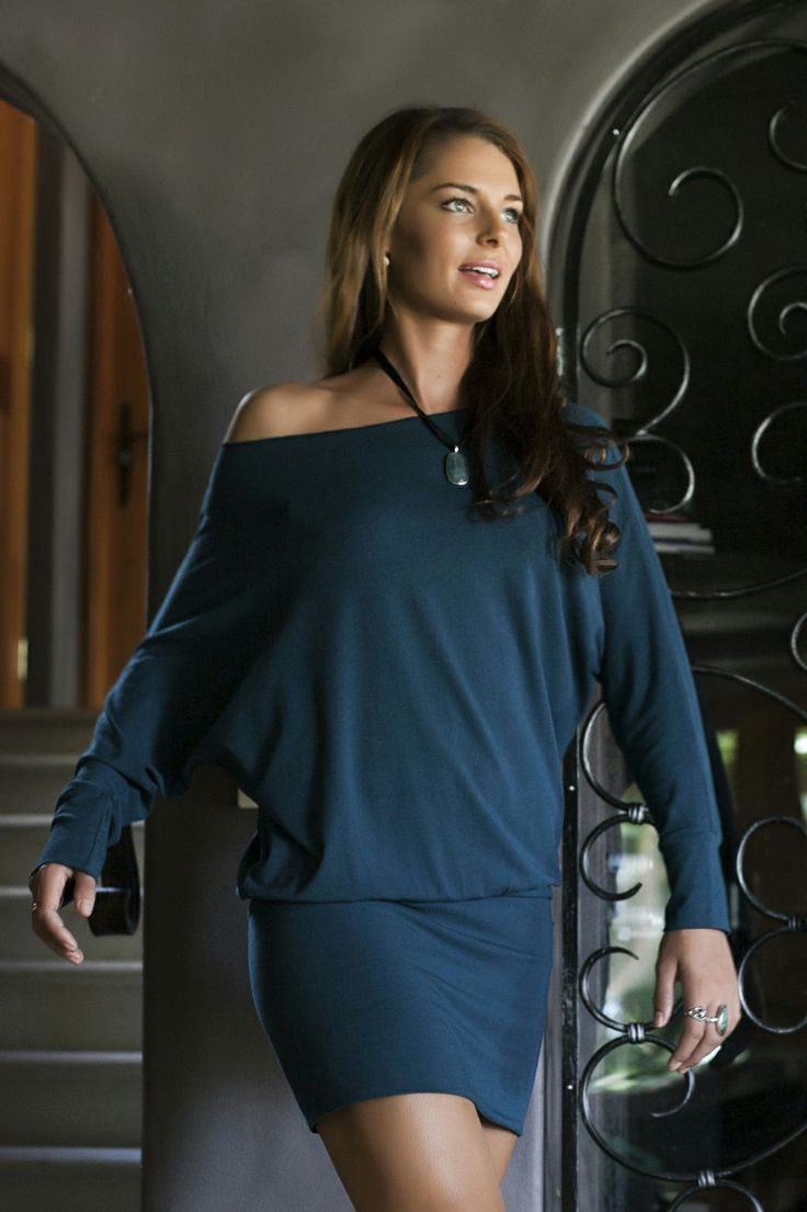 Bodypeace Mini Mod in Teal.  Elegant and comfortable bamboo clothing. www.bodypeacebamboo.com