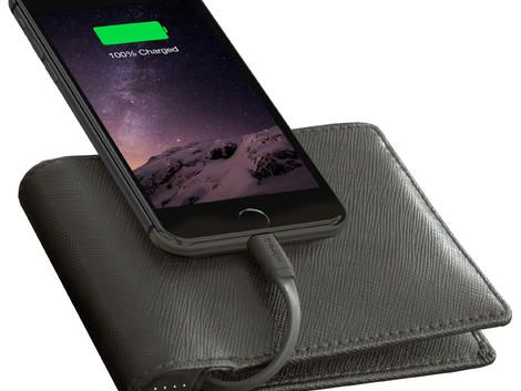 This crazy high-tech bifold wallet will charge your iPhone (pictures) - CNET