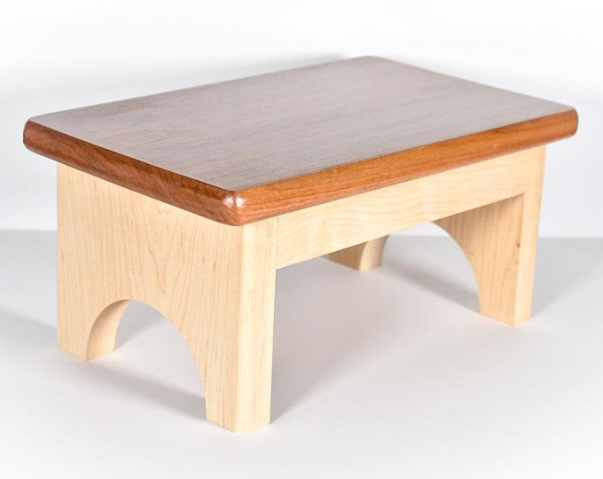 Single Step Stool Small Adult Or Child Wooden Bedside Step
