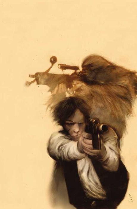 Why I chose this as a favorite: This is how I envision Han Solo and Chewbacca.