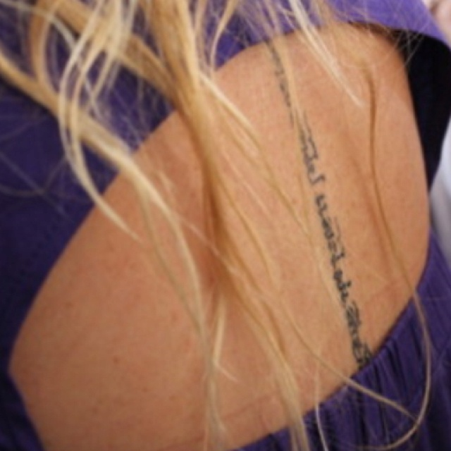 Tattoo Quotes Going Down Spine: Quotes Tattoos Down Spine. QuotesGram