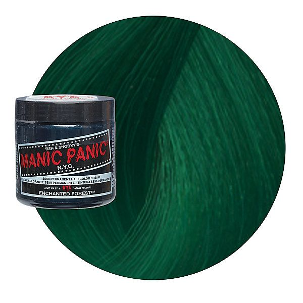 Manic Panic Classic Formula Semi Permanent Hair Color Cream Enchanted Forest color