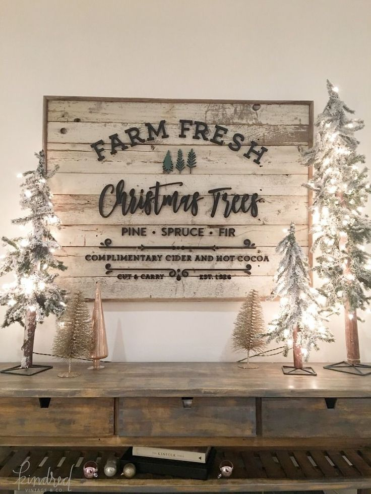These sweet light up trees gave our sideboard that whimsical, quirky feel I adore and I love that they tie in with our awesome sign above.