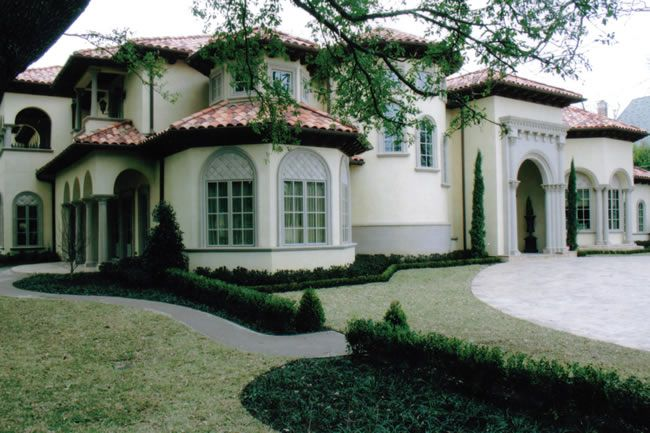 Mediterranean style custom home preston hollow avida for Custom mediterranean homes