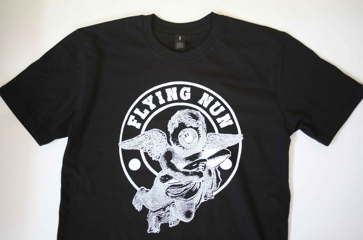 FLYING NUN - Angel Logo T-Shirt. Printed by www.esponline.co.nz