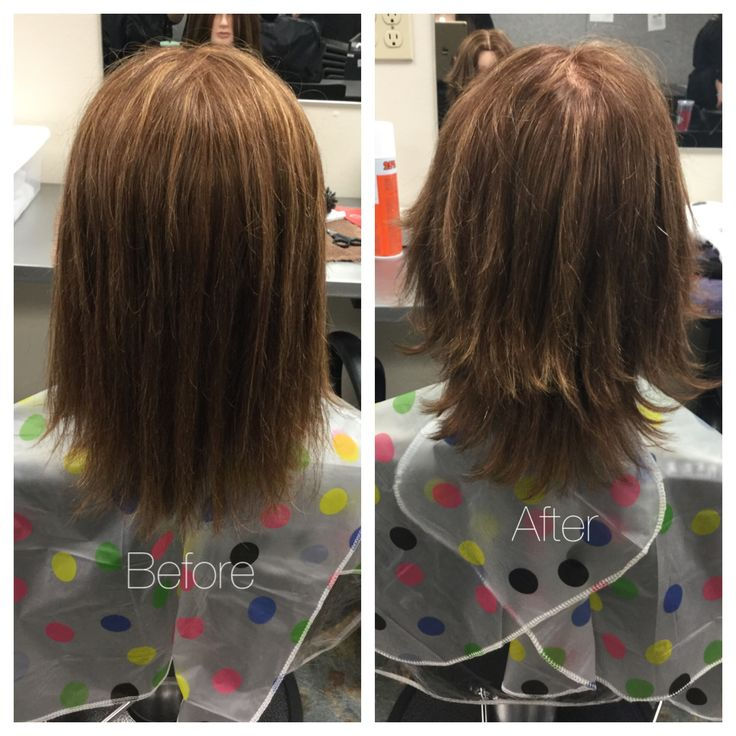 90 Degree Haircut Using Shears. Finished With A Blow Dry And Round Brush.