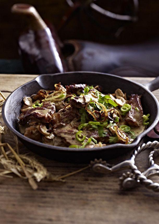 Unser beliebtes Rezept für Steakpfanne mit Champignons und mehr als 55.000 weitere kostenlose Rezepte auf LECKER.de.