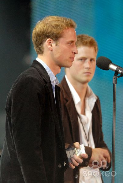 HRH Price William and his brother HRH Prince Harry at 'The Concert for Diana' at Wembley Stadium