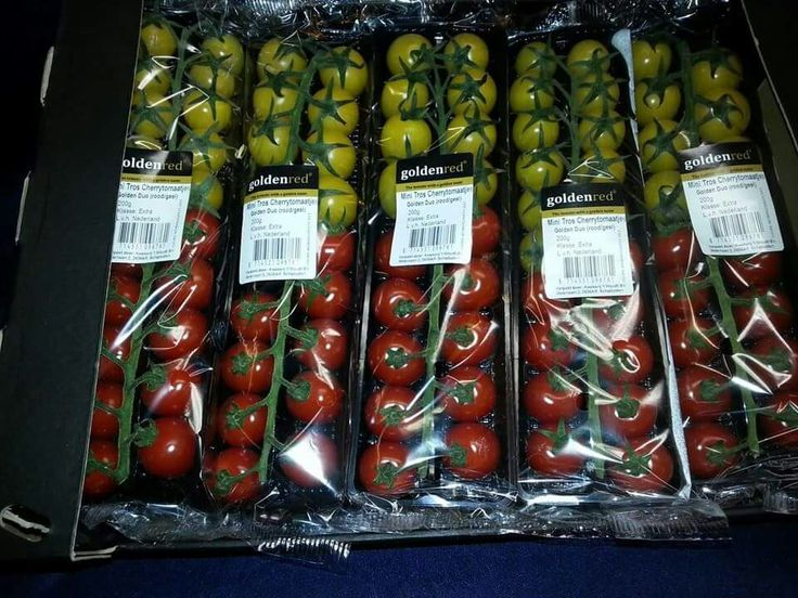 Golden red mixed chery tomato