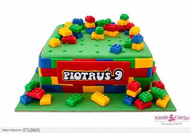 Klocki Lego, tort w kształcie klocków, torty dla dzieci… na Stylowi.pl
