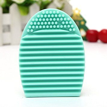 KINGSO Multifuntional Cleaning Cosmetic Makeup Brush Tool Face Massage Tool Silicone Foundation Cleaner Finger Glove Green