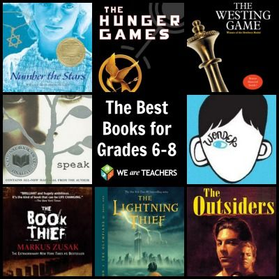 The Best Books for Grades 6-8 chosen by teachers.