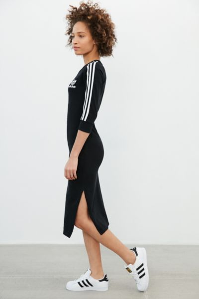 adidas Originals 3-Stripes Midi Dress - Urban Outfitters