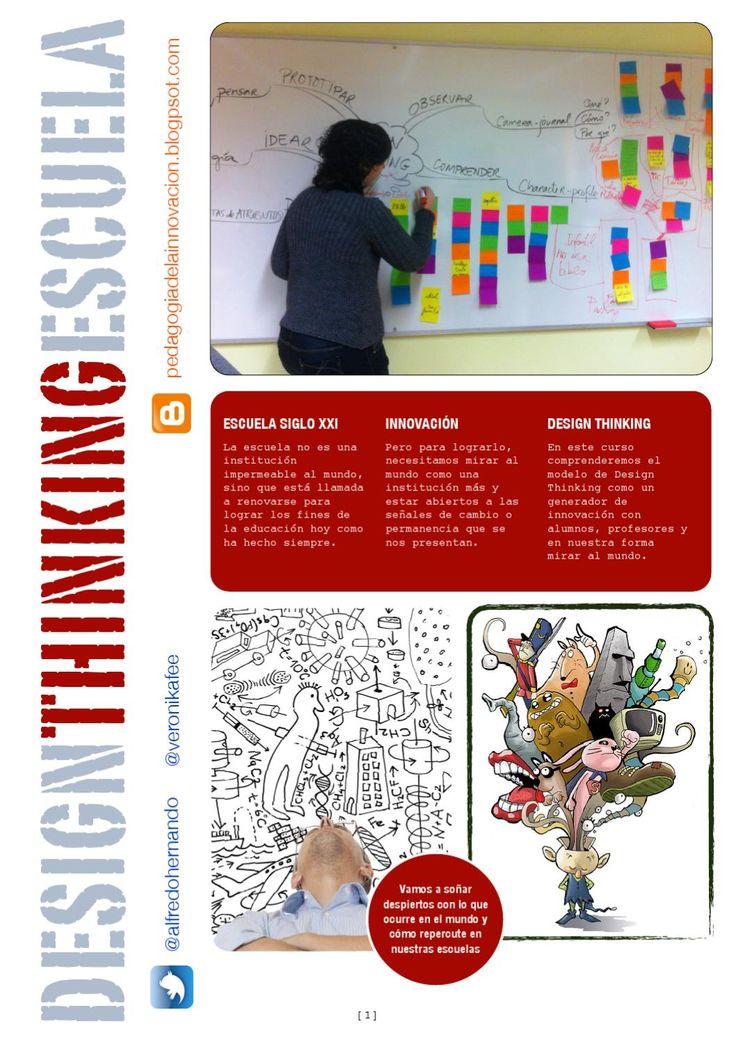 Diseñando la esuela del siglo XXI: design thinking e innovación educativa. materiales de trabajo para la implementación de las técnicas de design thinking en el ámbito educativo en la formación de profesores y para la transformación de la escuela y generación de proyectos participativos con el claustro.