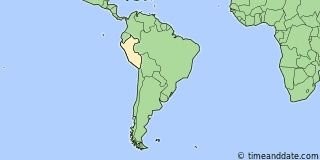 Map showing the location of Lima. Click map to see the location on our worldwide Time Zone Map.