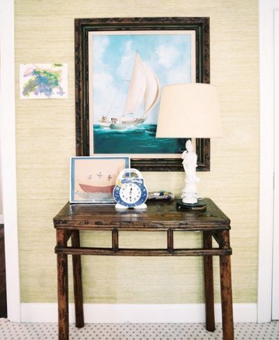 Decorating with Nautical Marine Art. Entryway.