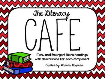 FREE Literacy CAFE headers