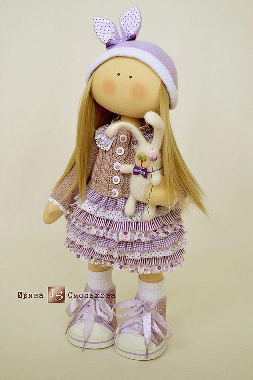 Купить Сиреневое БЕЗУМИЕ - сиреневый, текстильная кукла, кукла, кукла ручной работы, кукла в подарок