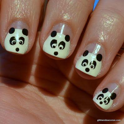 Best 25 panda nail art ideas on pinterest panda bear nails 31dc2013 black white black and white nail art black and white prinsesfo Image collections