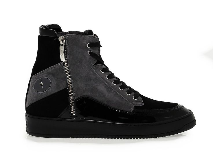 SNEAKERS CESARE PACIOTTI 4US AD4 40 Sneakers in suede leather, colour black  steel ankle-. Black Wedge ShoesBlack ...