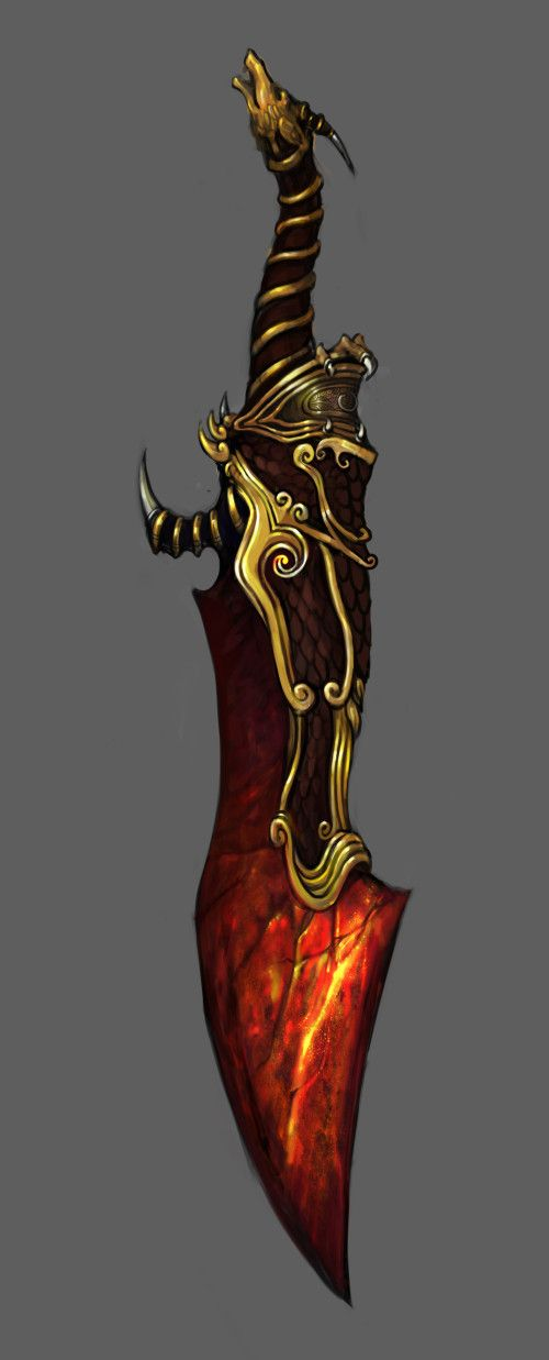 I like the look of this flamy blade and the idea itself of a sword having magma/fire inside it