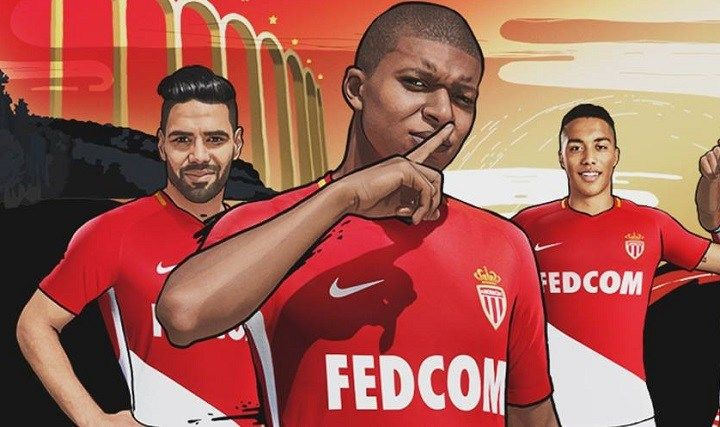 AS Monaco 2017/18 Nike Home Kit