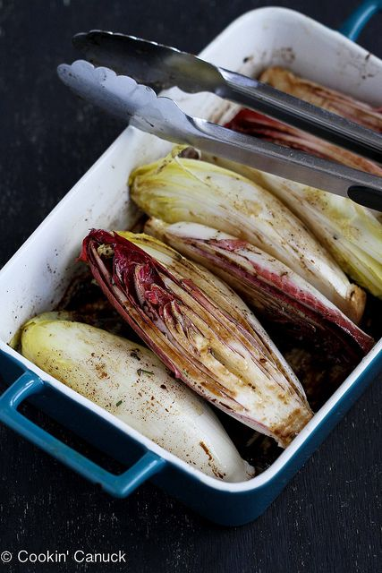 Grilled Endive Recipe with Pistachios, Dried Cherries & Feta Cheese ...