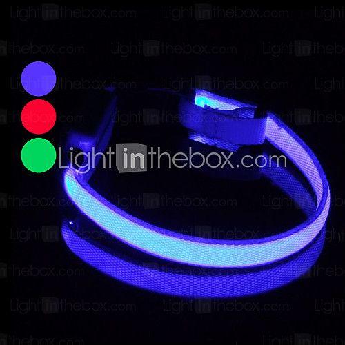 USD $ 3.99 - Collare LED luminoso per cane,regolabile (25-35 cm)