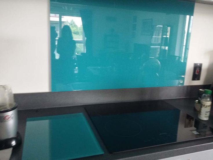 Blue Jade, 6mm Thick, Back Painted Glass Colour Kitchen Splashback By  CreoGlass Design Part 83