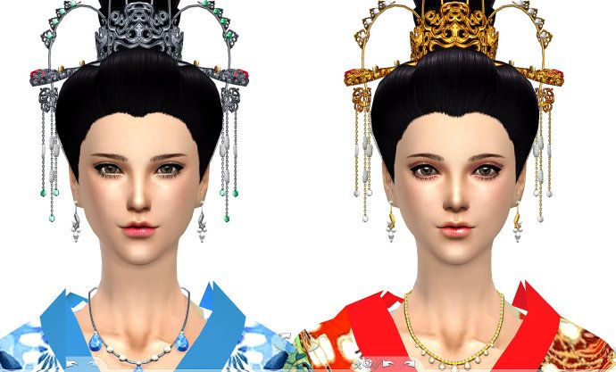 Sims 4 Chinese Traditional Hair #asian
