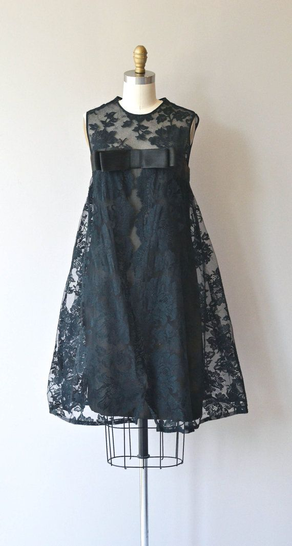 Suzy Perette dress vintage 1960s dress black lace by DearGolden