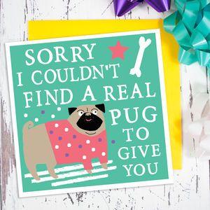 Pug Card - birthday cards