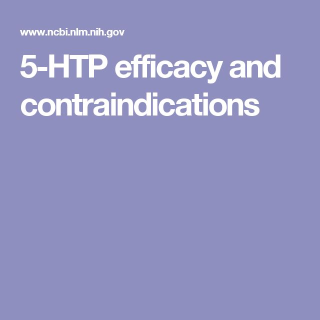 5-HTP efficacy and contraindications