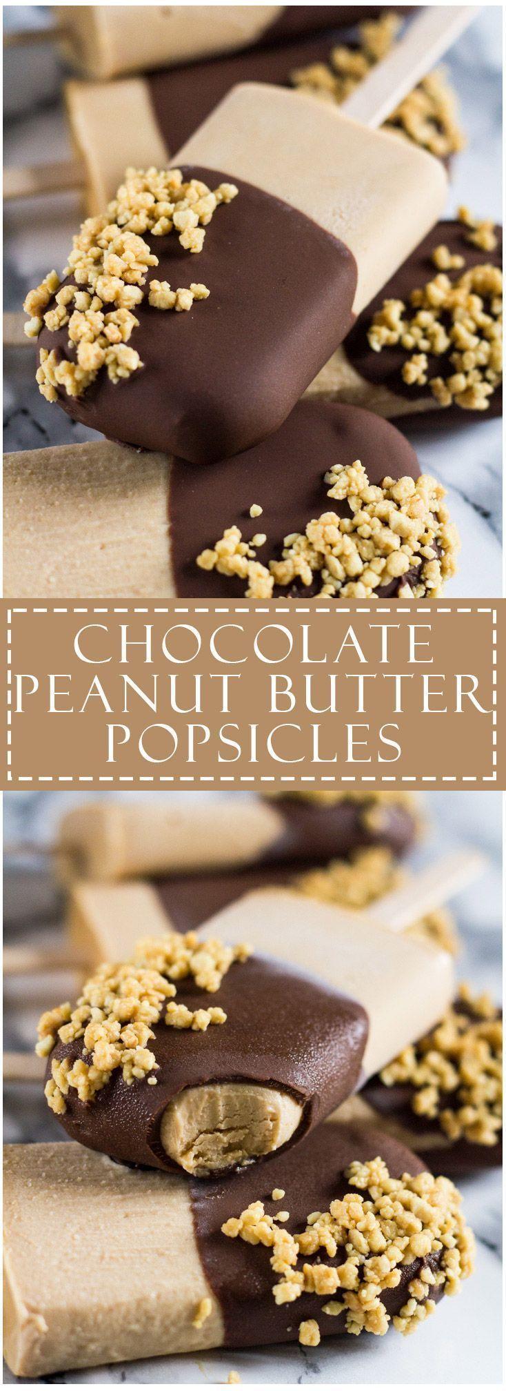 Chocolate Peanut Butter Yoghurt Popsicles | marshasbakingaddiction.com…