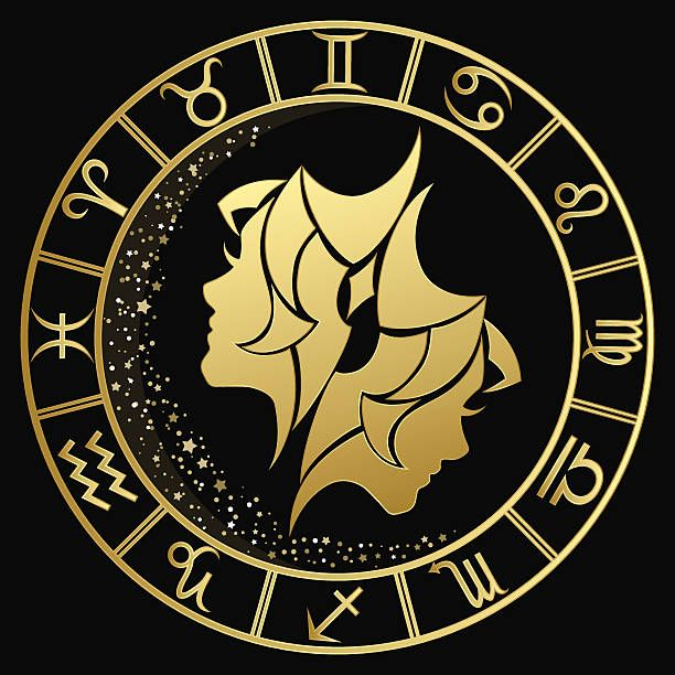 Illustrations Royalty Free Vector Graphics Clip Art Istock Zodiac Signs Images Gemini Art Zodiac Signs Gemini