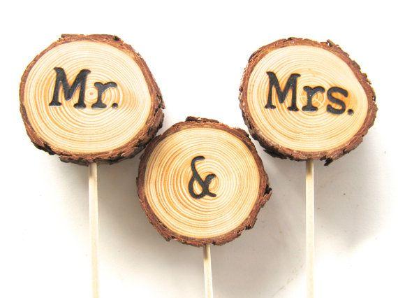 Wood Wedding Cake Topper Wedding Cake Topper by EndGrainWoodShoppe
