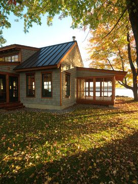 Best Lake Cottage Porch Standing Seam Roofing And Cedar Shakes Blend Into The Vermont Fall Foliage 640 x 480