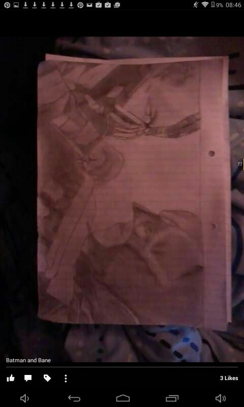 A very old picture drawn by myself, Batman Vs Bane, slightly unfinished